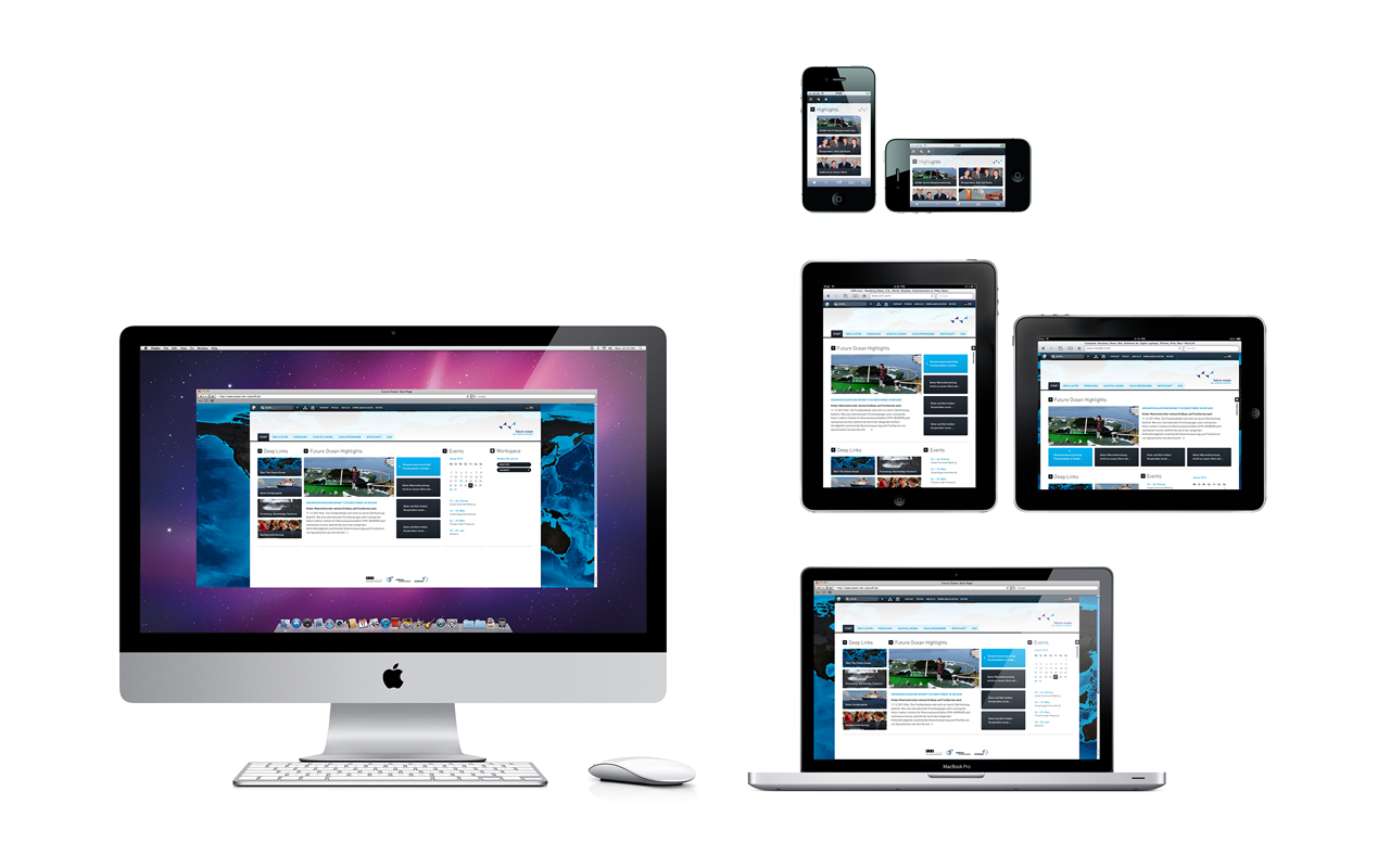 Future Ocean Website Redesign – A Responsive Webdesign