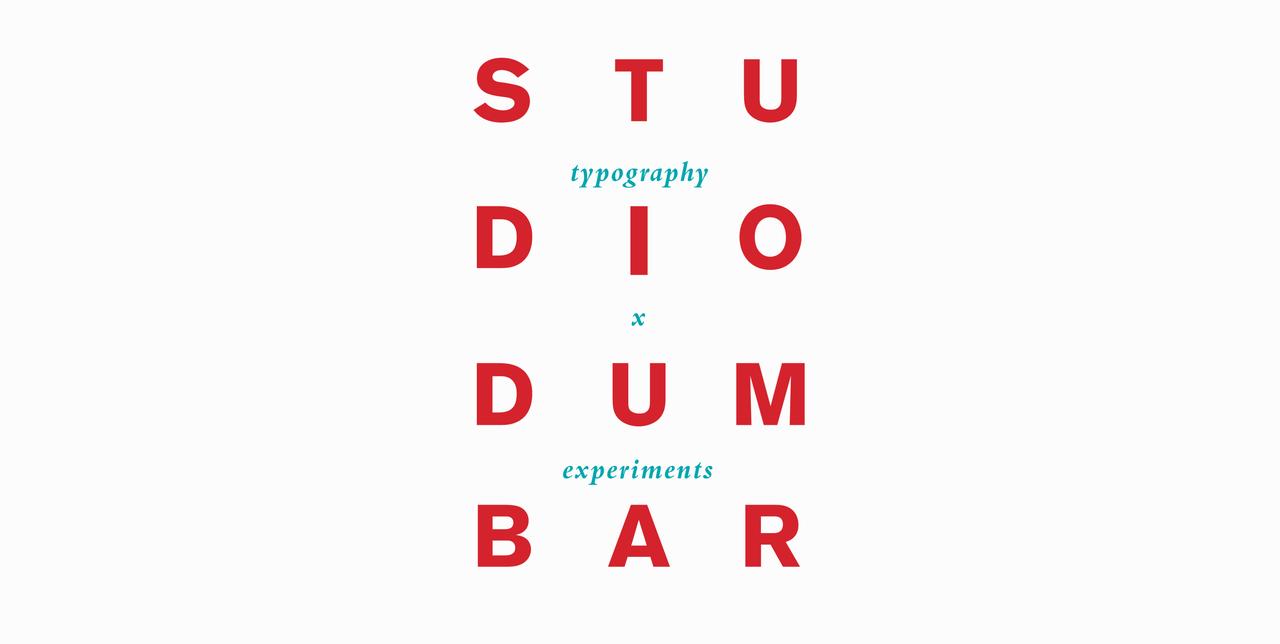 Studio Dumbar: typography x experiments